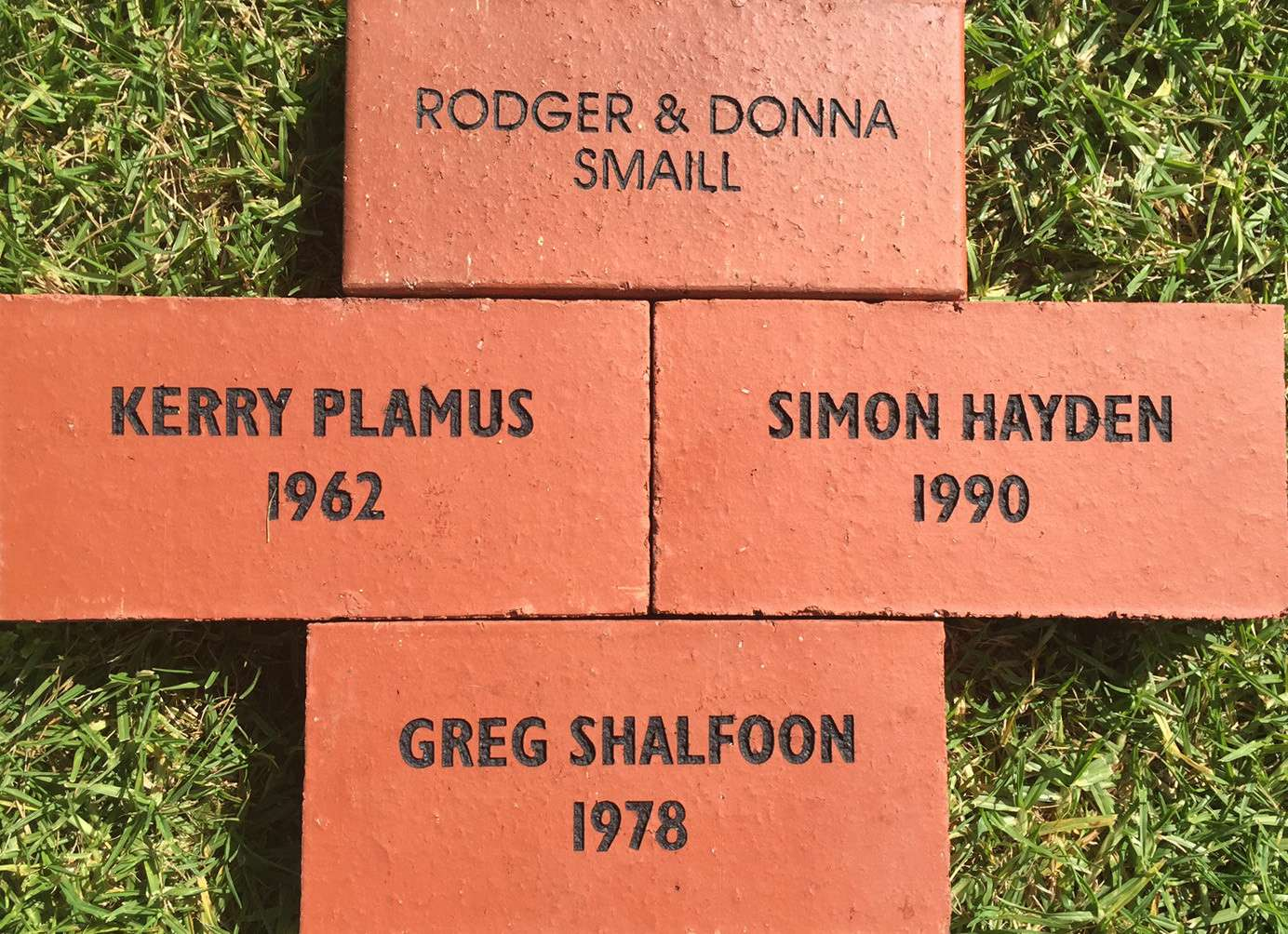 Buy a Legacy Brick and build a seat