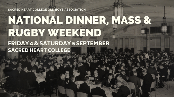 National Dinner, Mass & Rugby Weekend   Ticket Tile